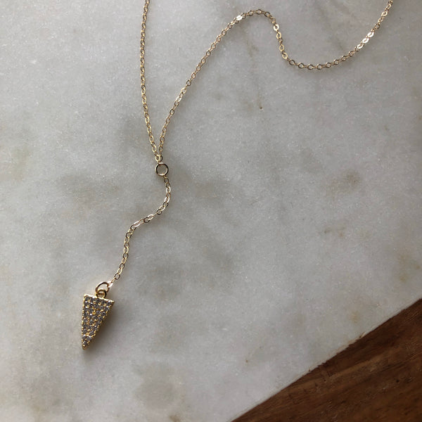 Arrow Y Necklace
