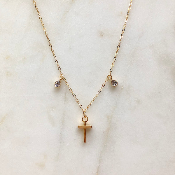 Cross and Charm Necklace