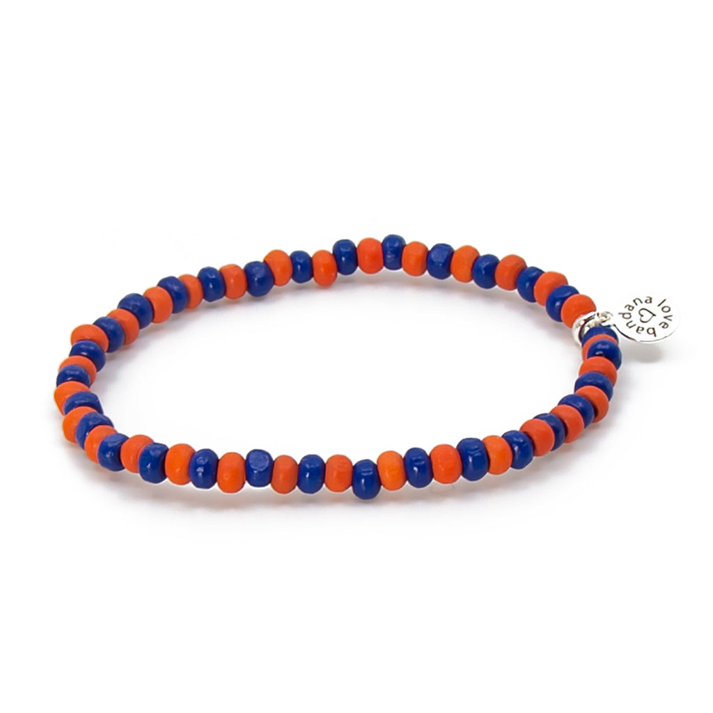 Orange and Blue Candi Beads