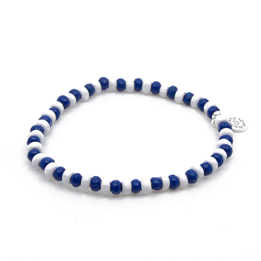 Blue and White Candi Beads