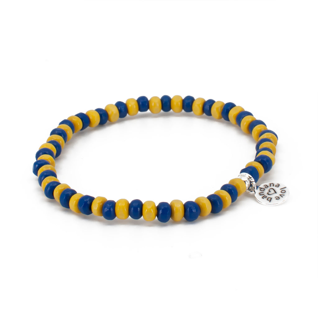 Blue and Yellow Candi Beads