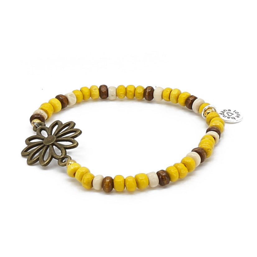 English Daisy Candi  Beads