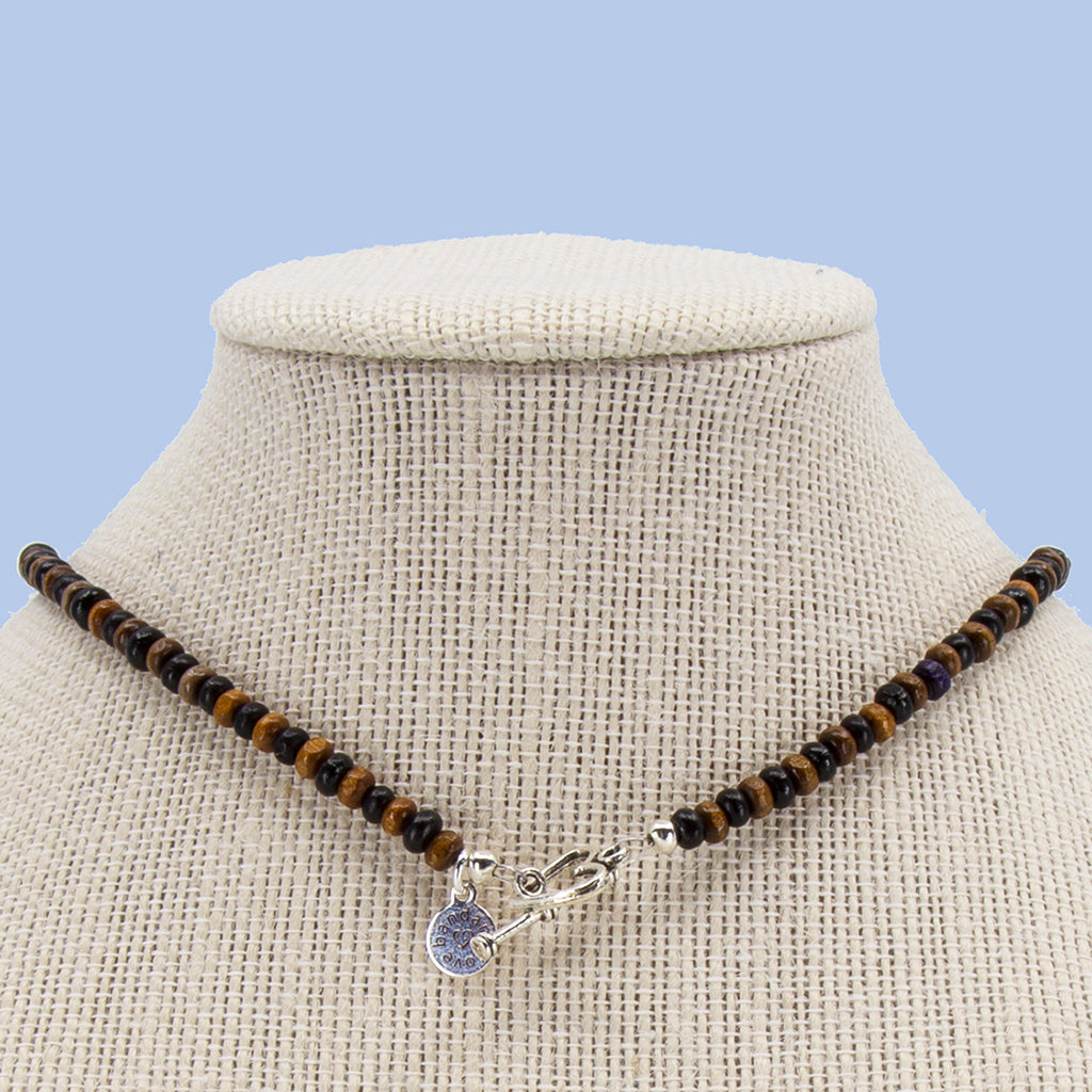 Brown and Black Candi Beads Necklace