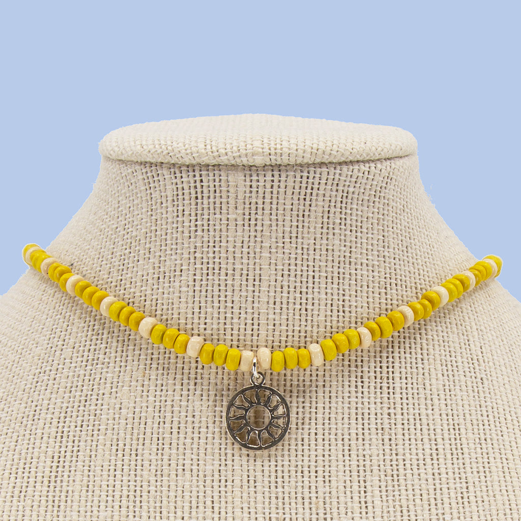 Harvest Candi Beads Necklace with Charm