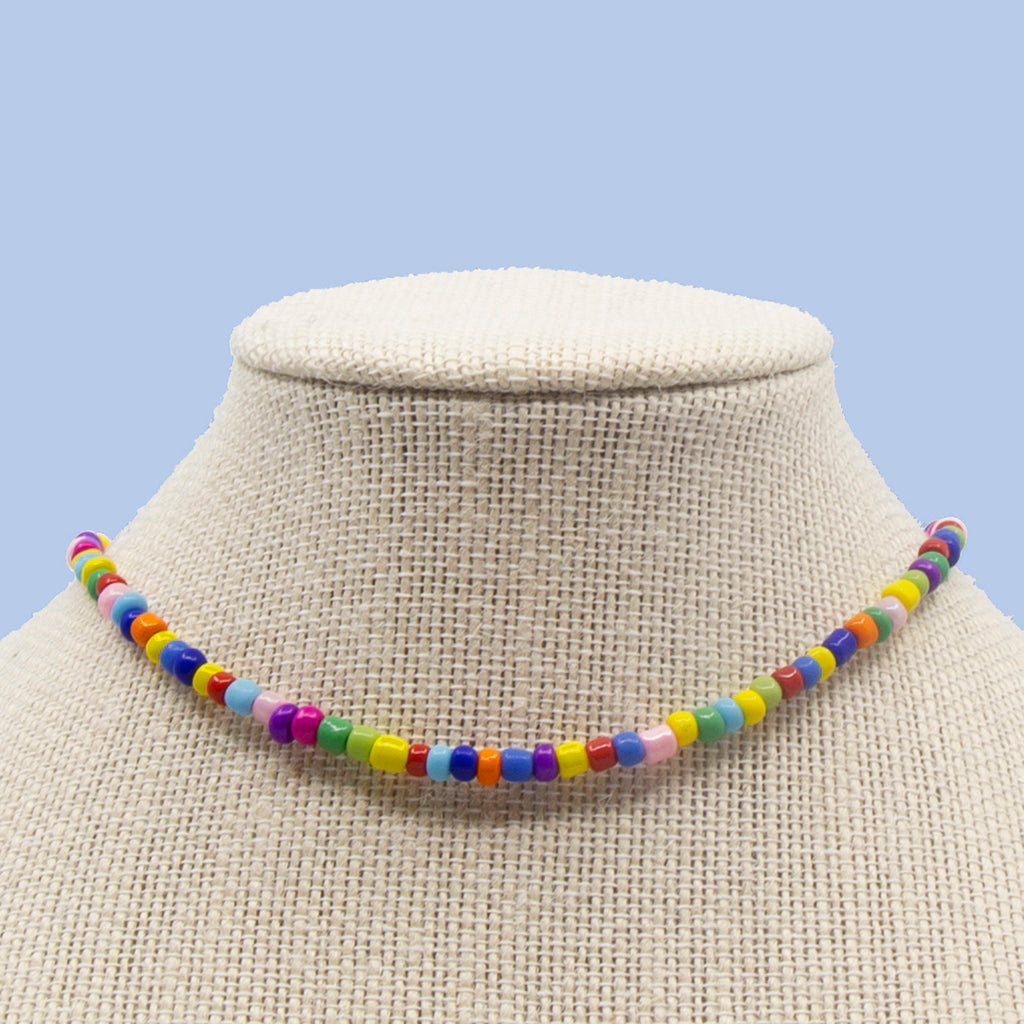 Multicolor with Glass Candi Beads Necklace