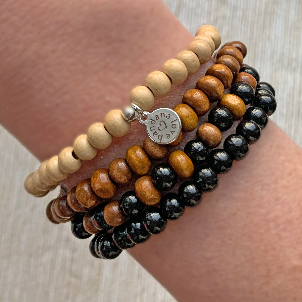 Brown and Black Candi Beads Dots