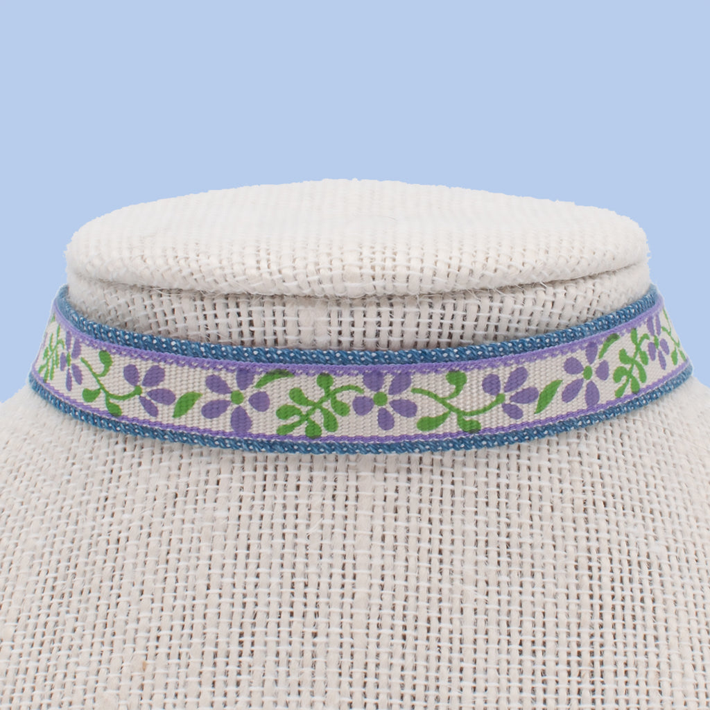 Purple Vinca Choker