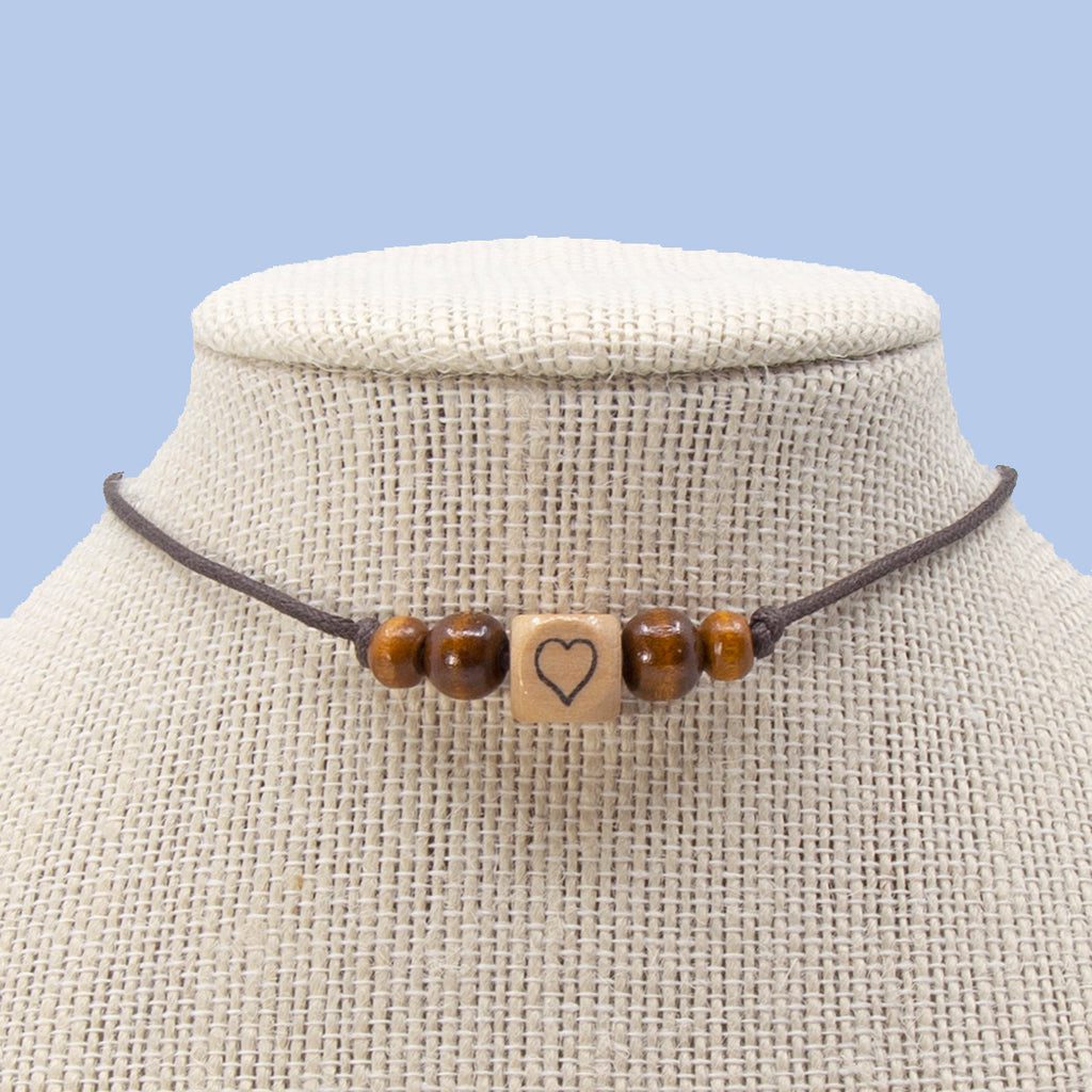 Spread Love String Necklace in Two Styles
