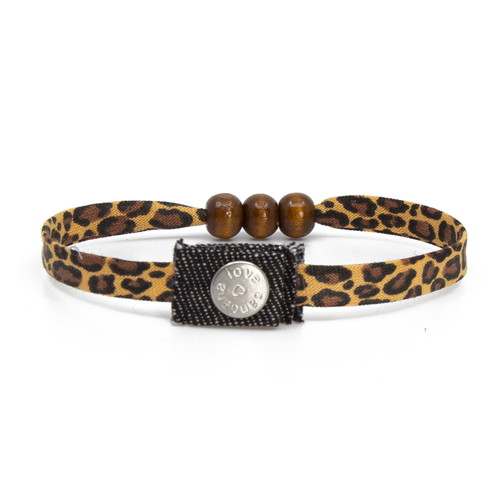 Three Beads Leopard Print with Brown