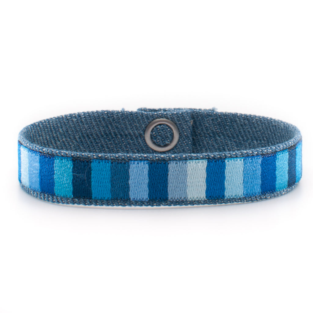 Blue Stripes Tribal Band
