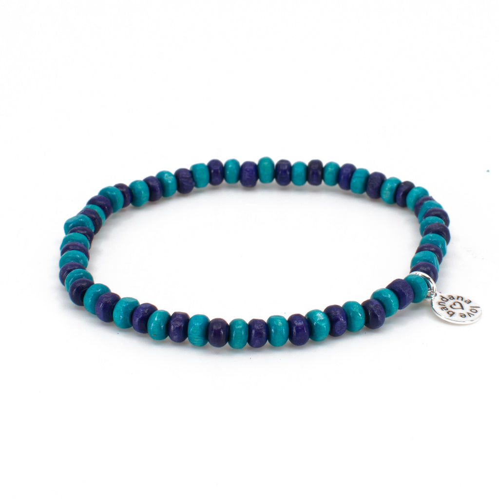 Turquoise and Purple Candi Beads