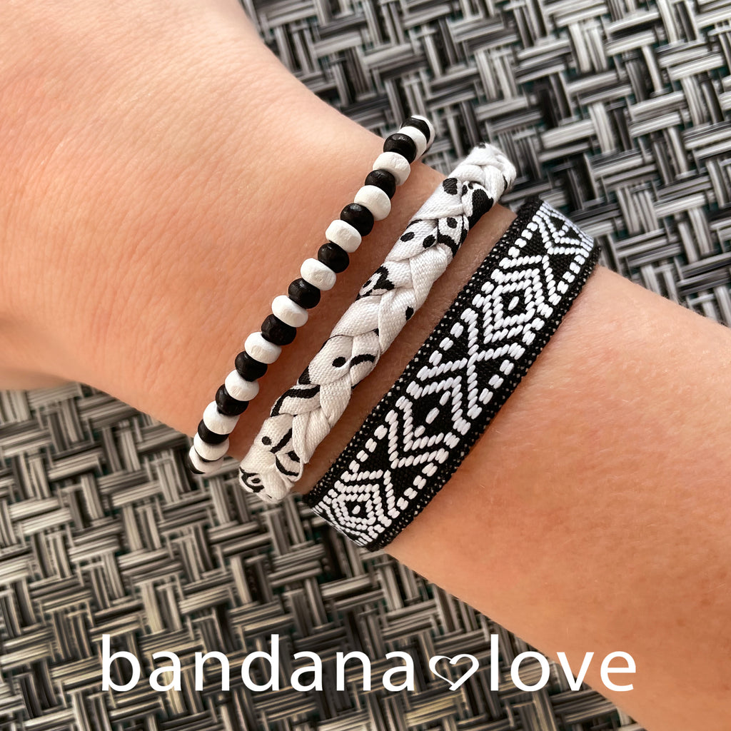 Black and White Candi Beads
