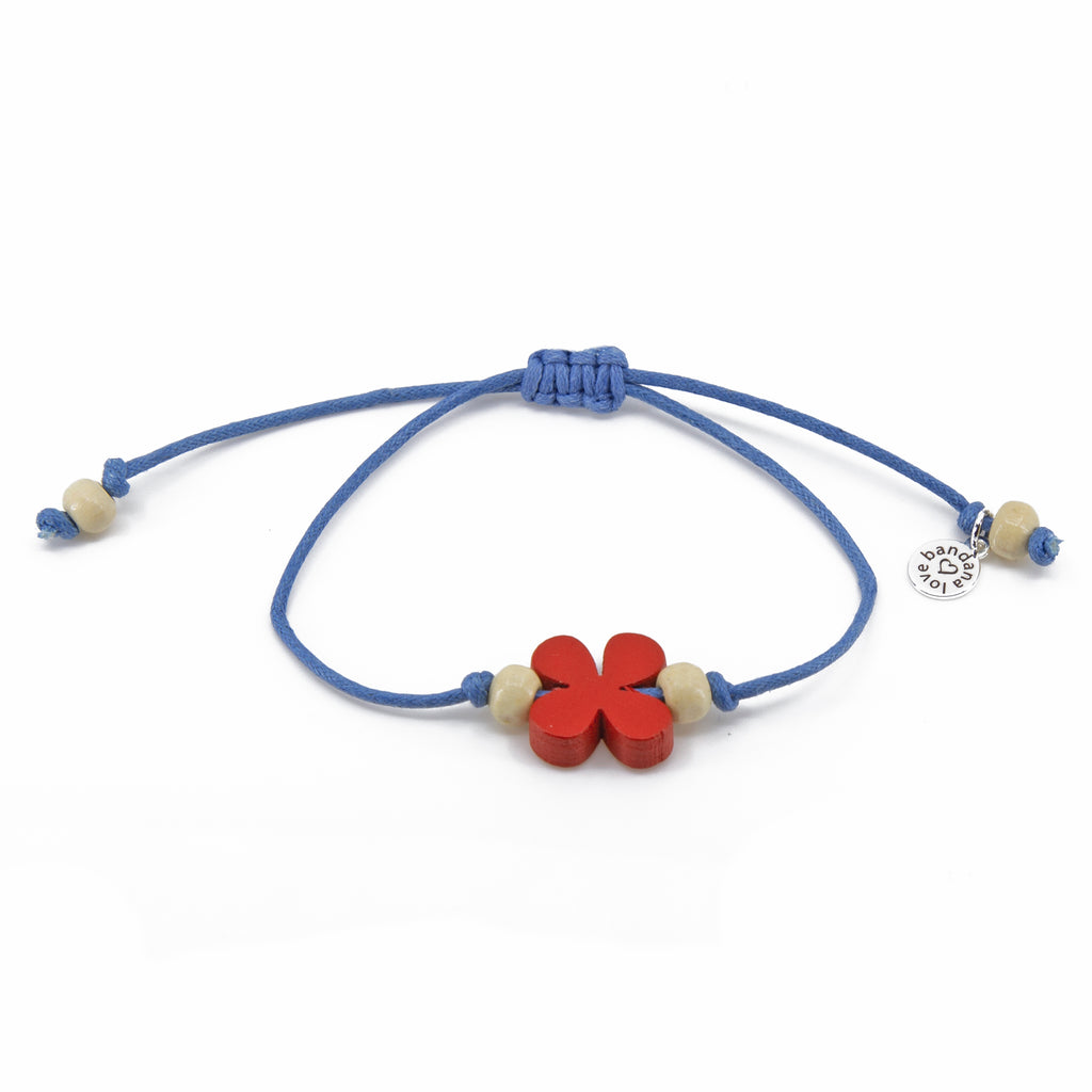 Red Flower with Ivory Beads String