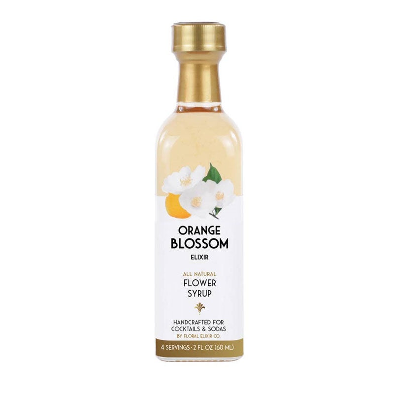 2 ounce bottle of orange blossom flower syrup to flavor cocktails and sodas. Bottle contains 4 servings.