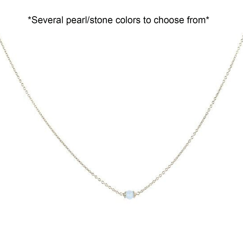 Lenny and Eva Trousseau silver necklace in cornflower. Several colors to choose from.