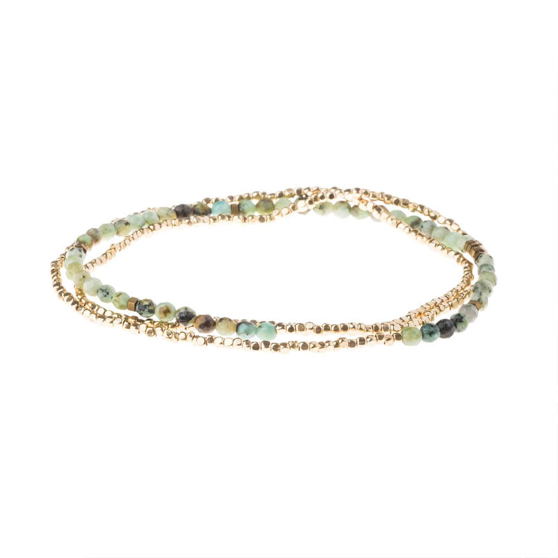 Delicate Stone Wrap - African Turquoise - Stone of Transformation