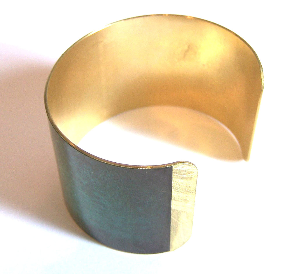 Inside view of brass cuff