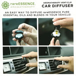 Car diffuser for essential oils. Just add a couple drops of your favorite essential oil and slide the diffuser onto your air vent.