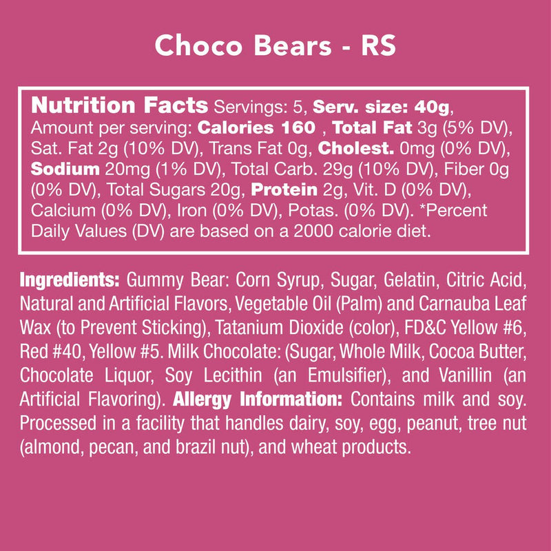 Here's all the nutrition, ingredient, and allergy info you need to know about these chocolate dipped gummy bears.