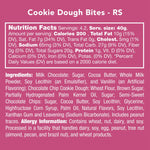 Everything you need to know about the nutrition facts, ingredients, and allergy information of these cookie dough bites.