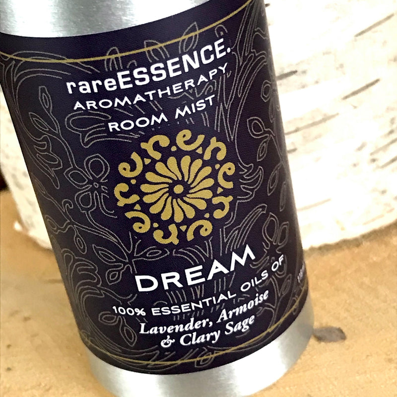 Dream room mist contains 100% pure lavender, armoise, and clary sage essential oils. Hundreds of sprays per bottle so it lasts a long time. Perfect for dorm rooms and apartments.