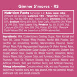 Everything you need to know about the nutrition, ingredients, and allergy precautions of the Gimme S'mores candy.