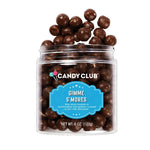 Bite size morsels of marshmallow and graham covered in rich milk chocolate. Jar contains 7 ounces of this smores treat.