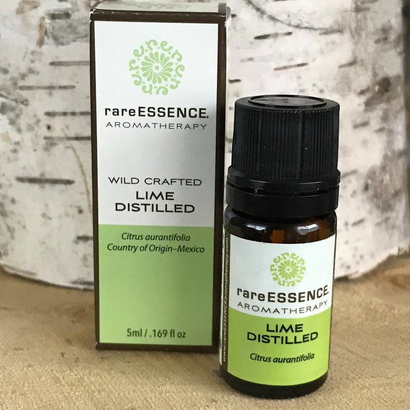 Bottle of Lime essential oil by Rare Essence
