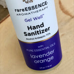 Gel hand sanitizer contains 70% antiseptic alcohol and 100% pure lavender and orange essential oils. Four ounce flip top bottle.