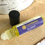 Sleep essential oil roll on contains oils like chamomile, sage, vetiver, and lavender to help you drift off. TSA compliant so you can even get to sleep in a hotel!