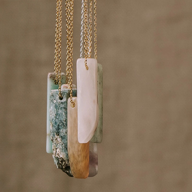 Fluorite Stone Point Necklace - Stone of Clarity