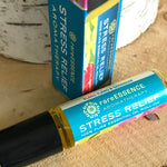 Relieve stress by applying this roll on filled with essential oils like ylang ylang, bergamot, sage, and lavender. Perfect on the go aromatherapy in your pocket or purse. TSA compliant size.