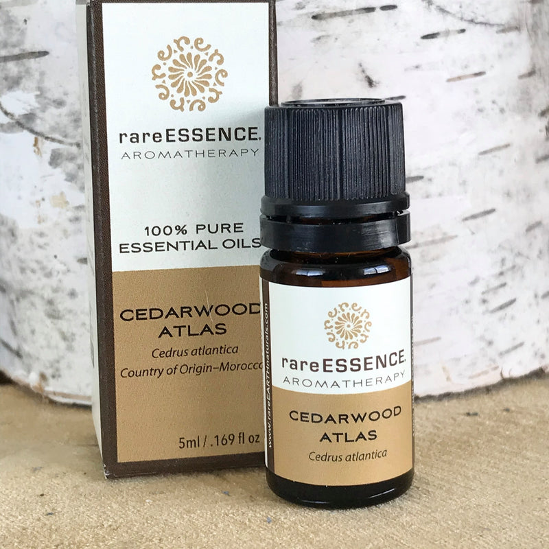 Cedarwood Atlas essential oil has a Woodsy, masculine scent (derived from trees in the Atlas mountains of Morocco). It is great for grounding and balance.