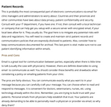 Email Correspondence with Patients Article