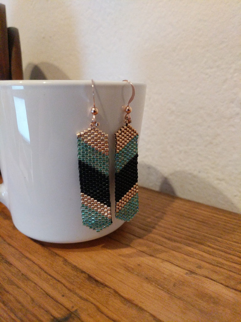 Modern stripes earrings