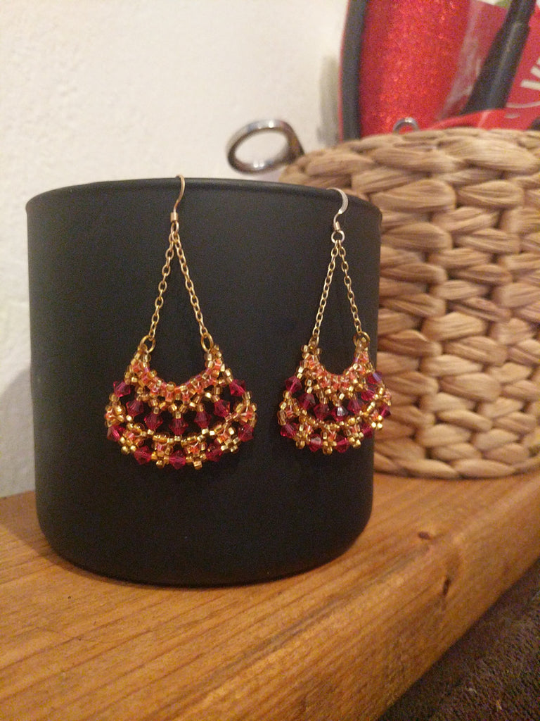 Golden Roses Earrings