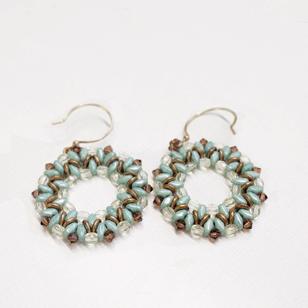 Chocolate Mint Earrings