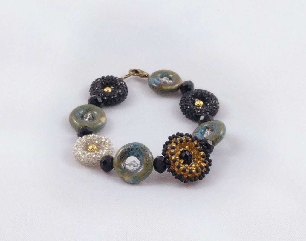 Concentric Collage Bracelet