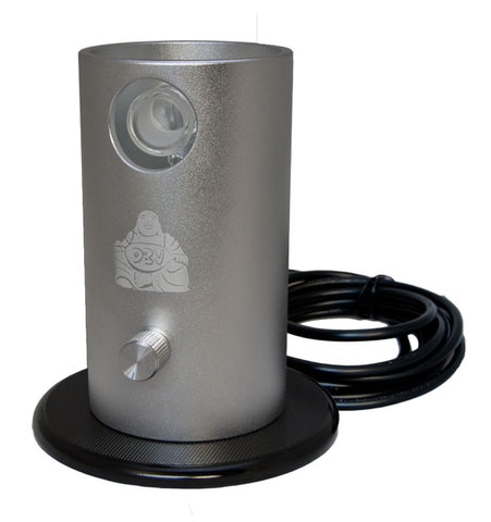 The Da Buddha taple top vaporizer made in Colorado comes in black and silver finishes at Healthy Headie Lifestyle