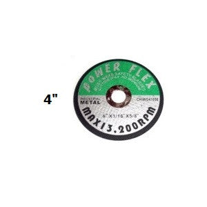 "(CW0412) 4"" X 1/16"" X 5/8""  CUT OFF WHEEL (10 PACK) / MAX 13,200 RPM (10/600) (80225)"