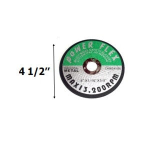 "(1/40) (0CW0412) 4-1/2"" X 1/16"" X 5/8""  CUT OFF WHEEL (10 PACK) / MAX 13,200 RPM (80250)"