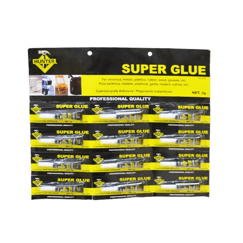 12 PCS SUPER GLUE CARD (PEGA EN POMO MULTI-USO) (1SET/72) (AD-1026)