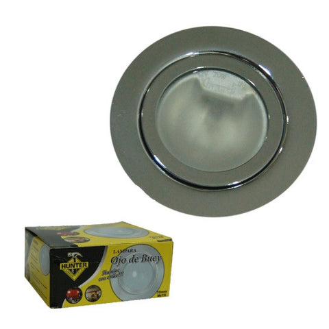 12 VOLT-BASE PARA LED TIPO FACSIA CROMADO/CEILING CHROME LAMP 70MM MR16 (12-48) (EL-1436)