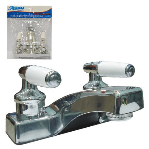 CENTER SET LAVATORY FAUCET DOUBLE (MEZCLADORA LAVAMANO DOBLE) (P-11001)