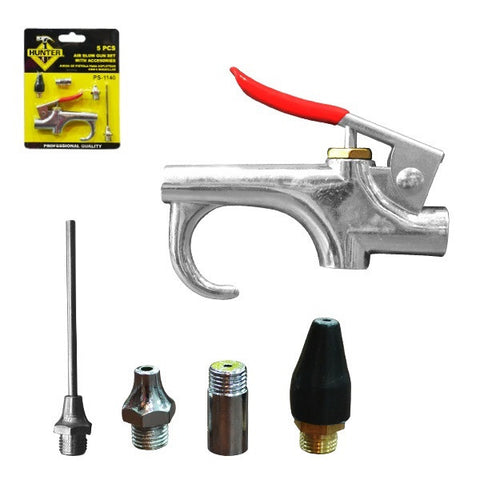 (10000) BLOW GUN SET WITH ACCESORIES (JUEGO DE PISTOLA PARA SOPLETEAR CON PUNTAS) (PS-1140)