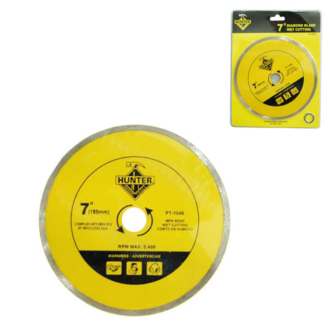"7"" DIAMOND CUTTING WHEEL WET TYPE A (RS21011) (DISCO ""DIAMANTE"" CORTE EN MOJADO - PARA REBAJAR) (PT-1046)"