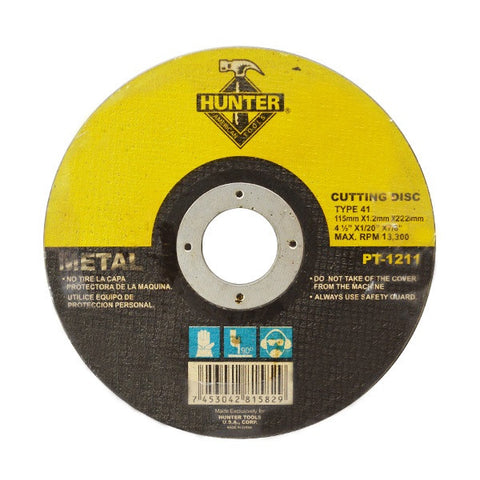 "METAL CUTTING DISC 4 1/2"" X 1/20"" X 7/8"" (PT-1211)"