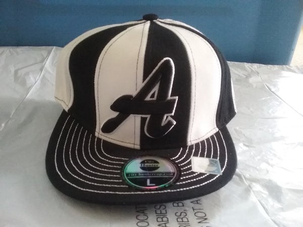 Atlanta Black/ White Windmill fitted Baseball Cap