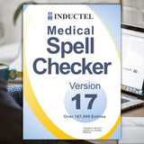 Inductel Medical Spell Checker, Version 17.  This photo is of the CD option in its product case.  It's also available as a download file you may install on your PC or Mac.