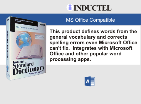 Inductel Standard Dictionary Software Digital Download, Version 17